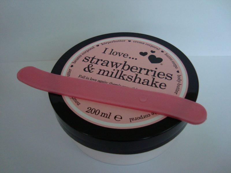 """Масло за тяло """"I love... strawberries & milkshake"""""""