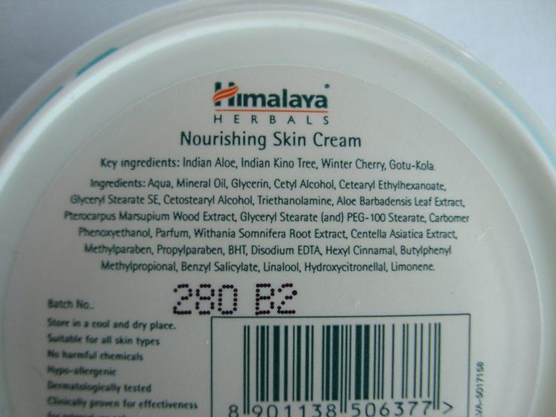 Състав на подхранващия крем за лице Himalaya
