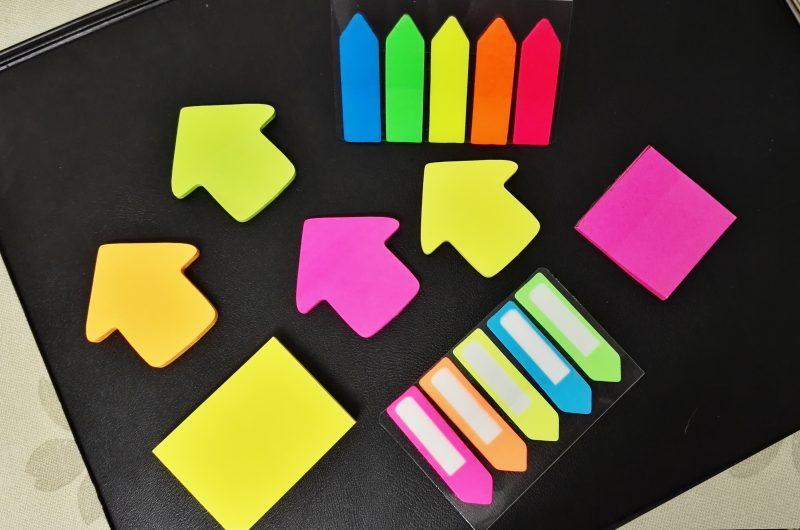 Използвайте цветни стикерчета, химикалки, бележки