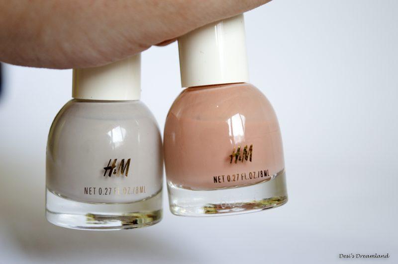 """Лакове за нокти H&M в цветове """"Tender Greige"""" и """"Milky Tea"""""""