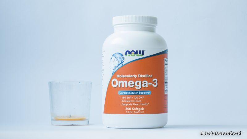 Омега-3 Now и свещ ИКЕА Портокал
