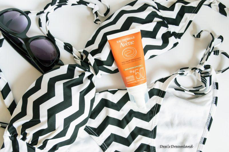 Avene Anti-aging Слънцезащитен крем за лице с фактор 50+