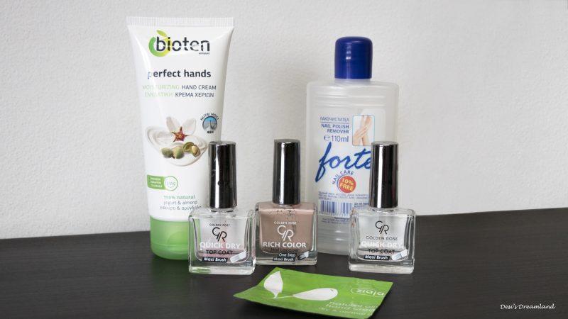 Крем за ръце Bioten, Лакочистител Forte, Крем за ръце Ziaja, Бързосъхнещ топ лак GR, Лак за нокти GR