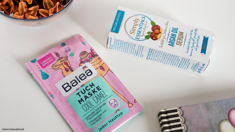 Маска кърпа за лице Balea Cool Camel и Серум за лице Simply Essentials