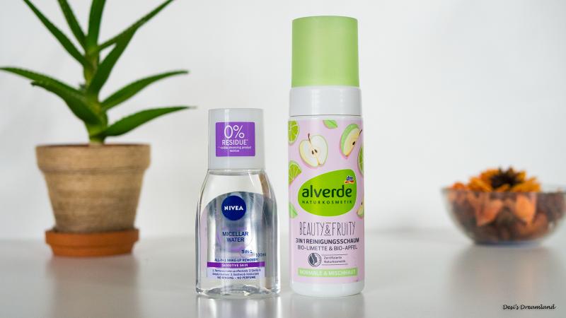 Мицеларна вода Nivea и Почистваща пяна за лице Alverde