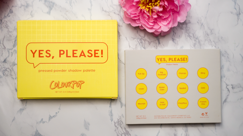 Опаковка на палитрата Yes, Please! на Colourpop