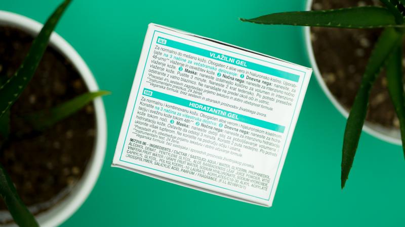 Състав на хидратиращия гел за лице Garnier Hyaluronic Aloe Jelly