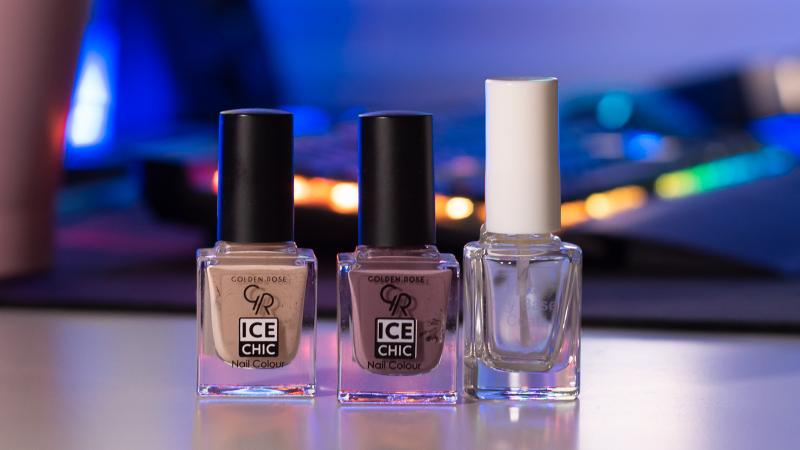 Бързосъхнеща основа Perfekt и лакове за нокти Golden Rose Ice Chic - 08 и 12